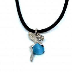 Pendentif fée bleue turquoise