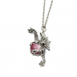 Dragon et orbe rose