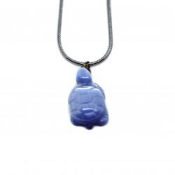 Pendentif tortue bleue