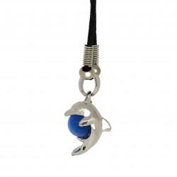 Pendentif dauphin et orbe bleu