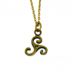 Pendentif triskèle bronze doré