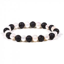 Bracelet lave/perle