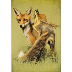 Affichette : elfe et renard