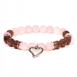 Bracelet quartz rose /...