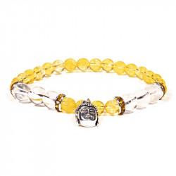 Bracelet citrine et cristal...